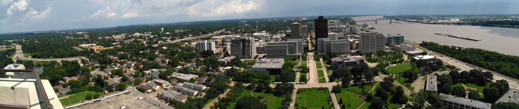 Downtown Baton Rouge from the Capitol